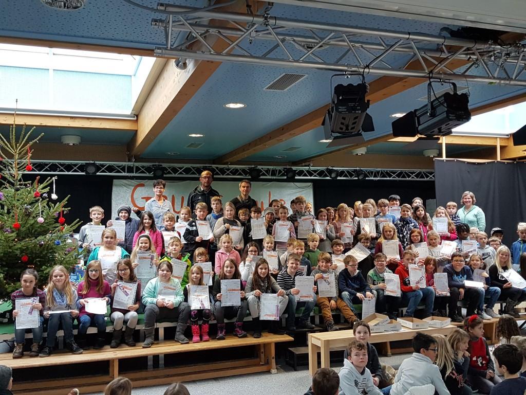 Sportabzeichen 2017 Grundschule
